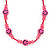 Children's Deep Pink 'Happy Face' Necklace - 36cm Length/ 4cm Extension - view 4