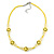 Children's Bright Yellow 'Happy Face' Necklace - 36cm Length/ 4cm Extension