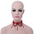 Chic Victorian/ Gothic/ Burlesque Red Bead Choker Necklace - view 10