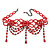 Chic Victorian/ Gothic/ Burlesque Red Bead Choker Necklace - view 2
