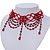 Chic Victorian/ Gothic/ Burlesque Red Bead Choker Necklace - view 7