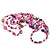 Magenta/Purple/Pink Multistrand Shell Necklace - 90cm Length - view 5