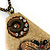 Long Vintage 'Butterfly&Flower' Pendant Necklace In Bronze Finish - 70cm Length/ 6cm Extension - view 6