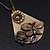 Long Vintage 'Butterfly&Flower' Pendant Necklace In Bronze Finish - 70cm Length/ 6cm Extension - view 3