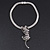 Silver Crystal Enamel 'Tiger' Mesh Magnetic Choker Necklace - view 11