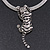 Silver Crystal Enamel 'Tiger' Mesh Magnetic Choker Necklace - view 8