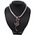 Silver Crystal Enamel 'Tiger' Mesh Magnetic Choker Necklace - view 12