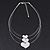 3 Strand 'Heart' Wire Necklace In Silver Plating - 36cm Length/ 6cm Extension - view 9