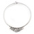 Silver Plated 'Heart' Charm Choker Necklace - 40cm Length - view 5