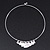 Silver Plated 'Heart' Charm Choker Necklace - 40cm Length - view 1