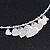 Silver Plated 'Heart' Charm Choker Necklace - 40cm Length - view 3