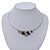 Silver Plated 'Heart' Charm Choker Necklace - 40cm Length - view 6