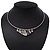 Silver Plated 'Heart' Charm Choker Necklace - 40cm Length - view 2