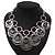 Silver Plated Hammered Circle Charm Necklace - 38cm Length/ 8cm Extension