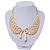 'Angel Wings' Peter Pan Collar Necklace In Gold Plating - 38cm Length/ 6cm Extension - view 4