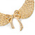 'Angel Wings' Peter Pan Collar Necklace In Gold Plating - 38cm Length/ 6cm Extension - view 3