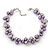Purple/Mirrored Metallic Bead Cluster Choker Necklace - 38cm Length/ 5cm Extension - view 6