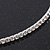 Thin Swarovski Crystal Flex Choker Necklace In Rhodium Plating - Adjustable - view 5