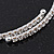 Thin Swarovski Crystal Flex Choker Necklace In Rhodium Plating - Adjustable - view 4