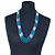 Multistrand Malachite Coloured & Silver Bead Necklace In Silver Tone Finish - 76cm Length/ 6cm Extension - view 2