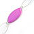 Long Purple Resin and Acrylic Nugget Necklace in Silver Tone- 112cm Length (5cm extension) - view 7
