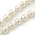Long White Glass Bead Necklace - 140cm Length/ 8mm - view 5