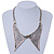 Antique Silver Effect Tailored Collar Necklace on Flat Snake Chain - 42cm Length/5cm Extension - view 1