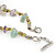 Lavender/ Pale Green Semiprecious Chips, Glass Bead Necklace In Silver Plating - 50cm Length/ 3cm Extender - view 5