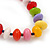 Multicoloured Resin 'Button' Beaded Black Cotton Cord Necklace - 76cm Length - view 4