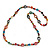 Long Multicoloured Bone & Wood Beaded Necklace - 120cm Length - view 6