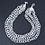 3 Strand White Glass Bead Oval Link Necklace - 70cm Length