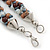 Beige/ Brown/ White Ceramic Bead Twisted Necklace In Silver Tone - 52cm Length - view 6