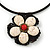 Antique White Ceramic 'Flower' Pendant Wired Choker Necklace - Adjustable - view 3