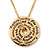 Gold Tone Audrey Hepburn Inscription Round Medallion Pendant and Chain - 41cm Length/ 7cm Extension