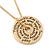 Gold Tone Audrey Hepburn Inscription Round Medallion Pendant and Chain - 41cm Length/ 7cm Extension - view 5
