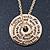 Gold Tone Audrey Hepburn Inscription Round Medallion Pendant and Chain - 41cm Length/ 7cm Extension - view 2