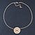 Gold Tone Audrey Hepburn Inscription Round Medallion Pendant and Chain - 41cm Length/ 7cm Extension - view 6