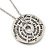 Silver Tone Audrey Hepburn Quote Round Medallion Pendant and Chain - 41cm Length/ 7cm Extension - view 3