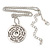 Silver Tone Audrey Hepburn Quote Round Medallion Pendant and Chain - 41cm Length/ 7cm Extension - view 5