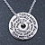 Silver Tone Audrey Hepburn Quote Round Medallion Pendant and Chain - 41cm Length/ 7cm Extension - view 6