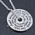 Silver Tone Audrey Hepburn Quote Round Medallion Pendant and Chain - 41cm Length/ 7cm Extension - view 2