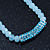 Light Blue Mountain Crystal and Swarovski Elements Choker Necklace - 36cm Length (5cm extension) - view 7