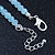 Light Blue Mountain Crystal and Swarovski Elements Choker Necklace - 36cm Length (5cm extension) - view 5
