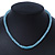 Light Blue Mountain Crystal and Swarovski Elements Choker Necklace - 36cm Length (5cm extension) - view 4