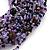 Chunky Multistrand Glass & Ceramic Bead Necklace (Lavender/Purple/Black) - 44cm Length - view 4