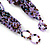 Chunky Multistrand Glass & Ceramic Bead Necklace (Lavender/Purple/Black) - 44cm Length - view 5