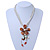 Chunky Multistrand Shell Floral Tassel Necklace (Light Cream, Light Brown, White) - 46cm Length/ 4cm Extension
