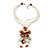 Chunky Multistrand Shell Floral Tassel Necklace (Light Cream, Light Brown, White) - 46cm Length/ 4cm Extension - view 4