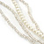 Chunky Multistrand Shell Floral Tassel Necklace (Light Cream, Light Brown, White) - 46cm Length/ 4cm Extension - view 5