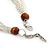 Chunky Multistrand Shell Floral Tassel Necklace (Light Cream, Light Brown, White) - 46cm Length/ 4cm Extension - view 6